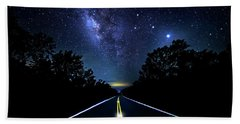 Beach Towel featuring the photograph Galaxy Highway by Mark Andrew Thomas