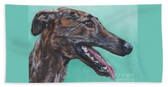 Galgo Espanol Spanish Greyhound Beach Towel