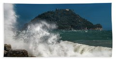 Gallinara Island Seastorm - Mareggiata All'isola Gallinara Beach Towel