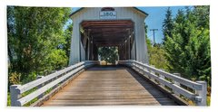 Gallon House Covered Bridge Beach Towel