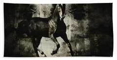 Galloping Horse Artwork Beach Sheet