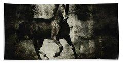 Galloping Horse Artwork Beach Sheet