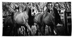 Galloping Horses Beach Towel