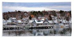 Gamage Shipyard In Winter Beach Towel