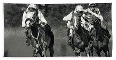 Gambling Horses Beach Towel
