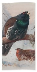 Game Birds And Wild-fowl  Beach Towel