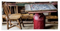 Game Of Checkers Beach Sheet by M G Whittingham