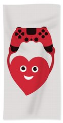 Gamer Heart Beach Towel