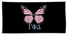 Gamma Phi Delta Classy Butterfly  Beach Sheet