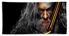 The Leader Of Mankind  - Gandalf / Ian Mckellen Beach Towel