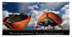Gangster Ladybugs Nature Gone Mad Beach Towel