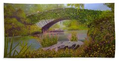 Gapstow Bridge Central Park Beach Towel