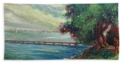 Garda Lake -lago Garda Beach Towel by Walter Casaravilla