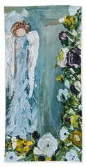 Garden Angel Beach Towel