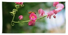 Beach Towel featuring the photograph Garden Bug by Megan Dirsa-DuBois
