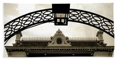 Beach Sheet featuring the photograph Garden District Lantern Arch by KG Thienemann