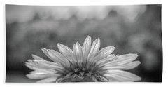 Garden Flower In Black And White Beach Towel