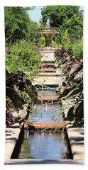 Garden Fountain Beach Towel