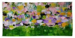 Beach Towel featuring the painting Garden Glory by Judith Rhue
