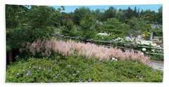 Garden In Maine Beach Sheet by Catherine Gagne