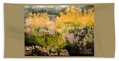 Garden In Northern Light Beach Sheet