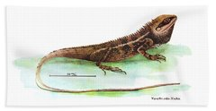 Garden Lizard Beach Towel