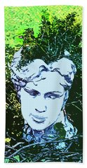 Garden Nymph Head Planter Beach Towel