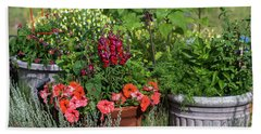 Garden Of Flowers Beach Towel