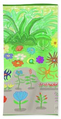 Garden Of Memories Beach Sheet