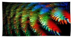 Beach Towel featuring the digital art Garden Of Miracles by Michal Dunaj
