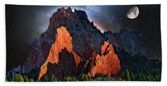 Garden Of The Gods Fantasy Art Beach Sheet
