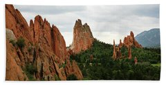 Beach Towel featuring the photograph Garden Of The Gods Geology by Marilyn Hunt