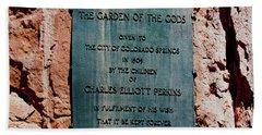 Garden Of The Gods Beach Towel