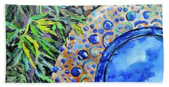 Beach Towel featuring the painting Garden Ornament by Jodie Marie Anne Richardson Traugott          aka jm-ART
