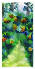 Garden Path 2 Beach Towel