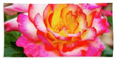 Garden Rose Beauty Beach Sheet by Teri Virbickis