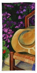 Garden Scene Beach Towel