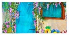 Garden Secrets - Wisteria Beach Sheet by Jenny Lee