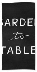 Garden To Table- Art By Linda Woods Beach Towel