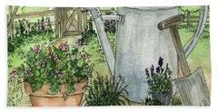 Garden Tools Beach Towel