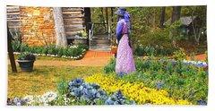 Beach Sheet featuring the painting Garden Walk by Donna Dixon