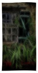 Garden Window 2 Beach Towel by William Horden