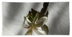 Gardenia On Tablecloths  Beach Towel