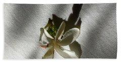 Gardenia On Tablecloths  Beach Sheet