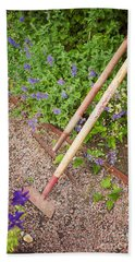Gardening Tools Beach Towel