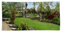 Gardens At Mount Of Beatitudes Israel Beach Towel