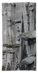 Gargoyles North Notre Dame Beach Towel by Christopher Kirby