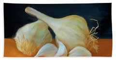 Garlic 01 Beach Towel by Wally Hampton