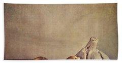 Garlic Cloves Beach Towel by Priska Wettstein