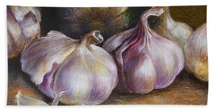 Garlic Painting Beach Towel
